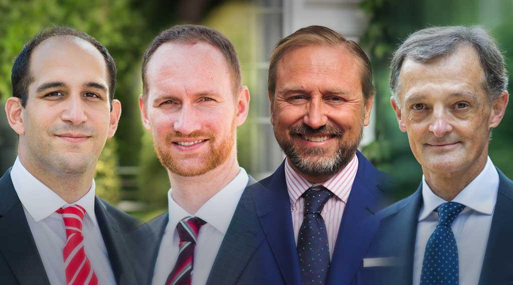 Los profesores José Azar, Christian Eufinger, Guido Stein y Fernando Peñalva