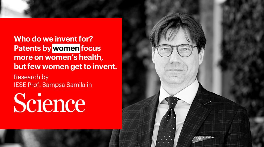 Investigación del IESE en Science: la falta de investigadoras penaliza los inventos dirigidos a mujeres