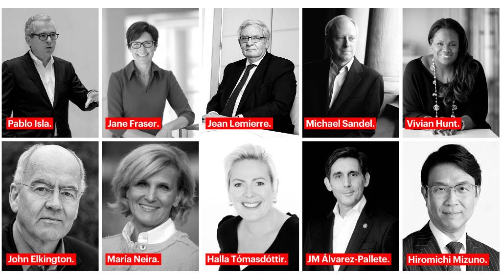 35 personalidades del mundo de la empresa, el pensamiento y la política inspirarán un cambio global sostenible