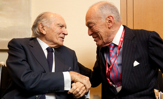Mariano Puig and Leonard Lauder in IESE NY Campus