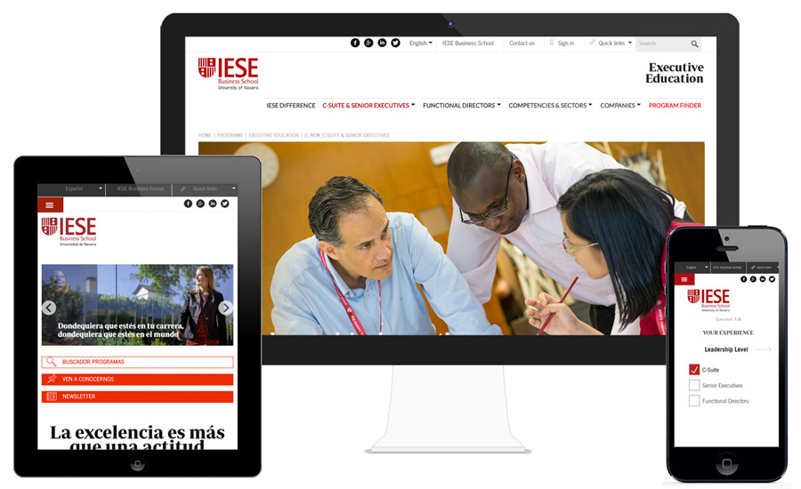 Executive Education website | IESE Business School