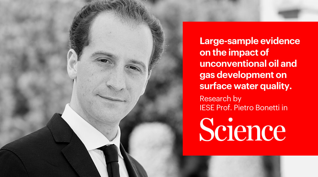 IESE research in Science magazine: Hydraulic fracturing may be impacting surface waters